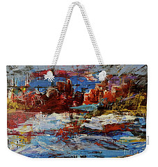Weekender Tote Bag featuring the painting Day Dreaming Sedona Arizona by Reed Novotny