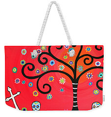Day Of The Dead Cemetery Weekender Tote Bag