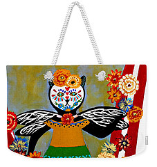 Day Of The Dead Circus Kitty Weekender Tote Bag