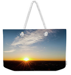 Weekender Tote Bag featuring the photograph Daybreak 2011 by SR Green