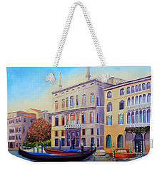 Daybreak At Venice Weekender Tote Bag by Shelia Kempf