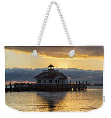 Daybreak Over Roanoke Marshes Lighthouse Weekender Tote Bag