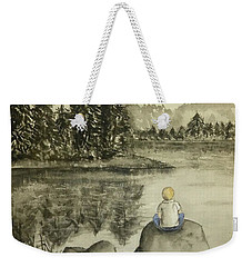 Weekender Tote Bag featuring the painting Daydream Lake by Kelly Mills