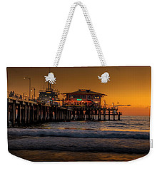 Daylight Turns Golden On The Pier Weekender Tote Bag