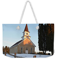 Weekender Tote Bag featuring the photograph Daylight's End_vertical by Janice Adomeit