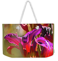 Daylily Abstract Colors - Beauty In The Garden Weekender Tote Bag