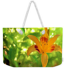 Weekender Tote Bag featuring the digital art Daylily by Charles Ables