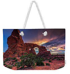 Day's End At Turret Arch Weekender Tote Bag