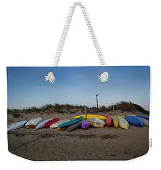 Weekender Tote Bag featuring the photograph Day's End by Michael Friedman