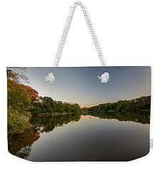 Weekender Tote Bag featuring the photograph Day's End On The Creek by Charles Kraus