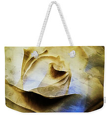 Weekender Tote Bag featuring the painting Days Go By - Rose - Dreamscape by Janine Riley