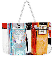 Weekender Tote Bag featuring the photograph Days Of Five And Nine Tenths Cents Per Gallon by A Gurmankin