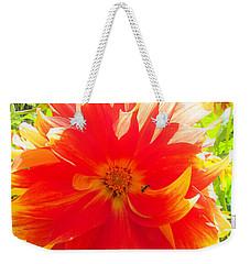 Dazzling Dahlia Weekender Tote Bag