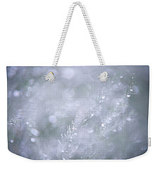 Weekender Tote Bag featuring the photograph Dazzling Silver World by Jenny Rainbow