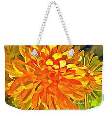 Dazzling Succulent Weekender Tote Bag by Linda Weinstock