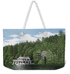 Weekender Tote Bag featuring the painting De Groote Summer Home Muskoka by Kenneth M Kirsch