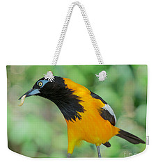 Weekender Tote Bag featuring the photograph De-worm Edition 2 by Judy Kay