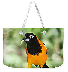 Weekender Tote Bag featuring the photograph De-worm Edition 3 by Judy Kay