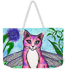 Dea Dragonfly Fairy Cat Weekender Tote Bag