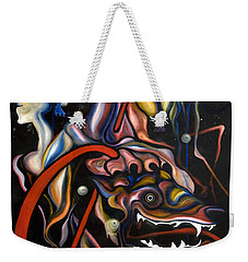 Dead Dog Weekender Tote Bag