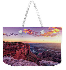 Weekender Tote Bag featuring the photograph Dead Horse Point Sunset by Darren White