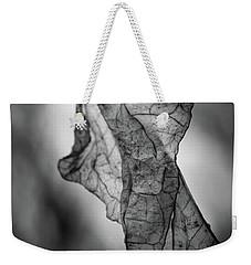 Fragile Leaf Bw Weekender Tote Bag