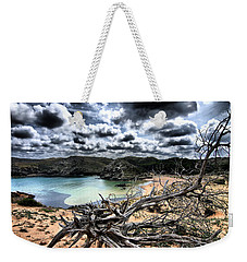 Dead Nature Under Stormy Light In Mediterranean Beach Weekender Tote Bag