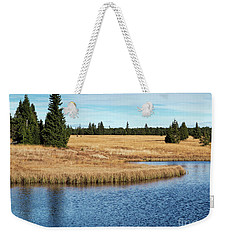 Dead Pond In Ore Mountains Weekender Tote Bag by Michal Boubin