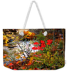 Dead River Falls Foreground Plus Mist 2509 Weekender Tote Bag