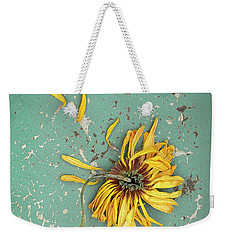 Weekender Tote Bag featuring the photograph Dead Suflower by Jill Battaglia