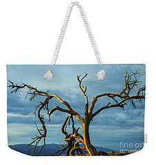Weekender Tote Bag featuring the photograph Dead Tree In Death Valley 7 by Micah May