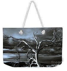 Weekender Tote Bag featuring the photograph Dead Tree In Death Valley 9 by Micah May