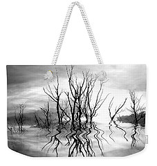 Weekender Tote Bag featuring the photograph Dead Trees Bw by Susan Kinney