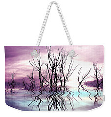 Weekender Tote Bag featuring the photograph Dead Trees Colored Version by Susan Kinney