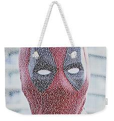 Deadpool Quotes Mosaic Weekender Tote Bag by Paul Van Scott