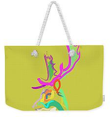 Weekender Tote Bag featuring the painting Dear Deer by Go Van Kampen