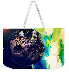 Weekender Tote Bag featuring the drawing Death Star Two by Justin Moore