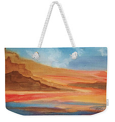 Weekender Tote Bag featuring the painting Death Valley by Ellen Levinson