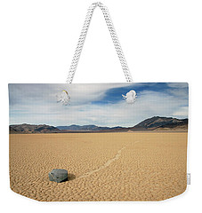 Weekender Tote Bag featuring the photograph Death Valley Ractrack by Breck Bartholomew