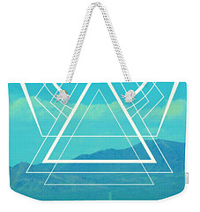 Death Valley Sacred Geometry Weekender Tote Bag