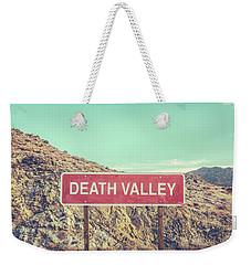 Death Valley Sign Weekender Tote Bag