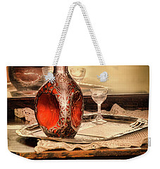 Decanter And Glass Weekender Tote Bag by Jill Battaglia