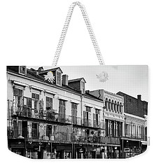 Decatur Street New Orleans In Black And White Weekender Tote Bag