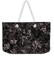 Decayed Autumn Leaves On The Ground Copper Tone Weekender Tote Bag
