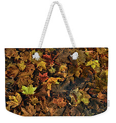 Decayed Autumn Leaves On The Ground Weekender Tote Bag