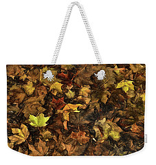 Decayed Autumn Leaves On The Ground Strong Stroke Weekender Tote Bag