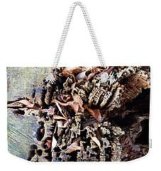 Weekender Tote Bag featuring the photograph Decaying Beech Wood Stump by Menega Sabidussi