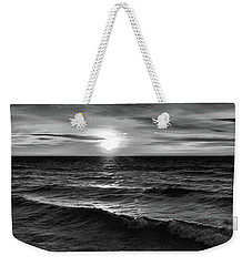 December 20-2016 Sunrise At Oro Station Bw  Weekender Tote Bag by Lyle Crump