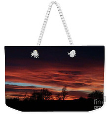 December 2016 Farm Sunset Weekender Tote Bag