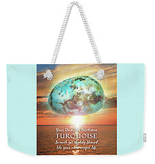 December Birthstone Turquoise Weekender Tote Bag